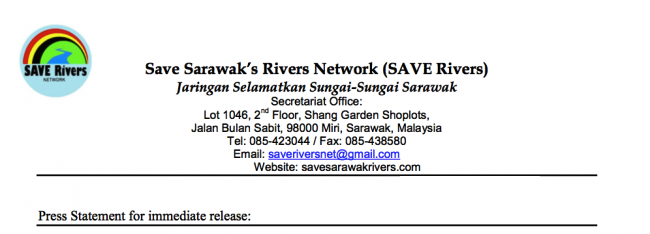 SAVE Rivers Press Release No Date