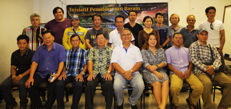 Representatives of indigenous communities from Baram launch the Baram Conservation Initiative