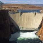 Water is released below the Glen Canyon Dam on the Colorado River. Photograph by Bill Hatcher, National Geographic