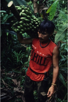 A native of Sarawak gathering on his land. Photo Credit: SAVE Rivers