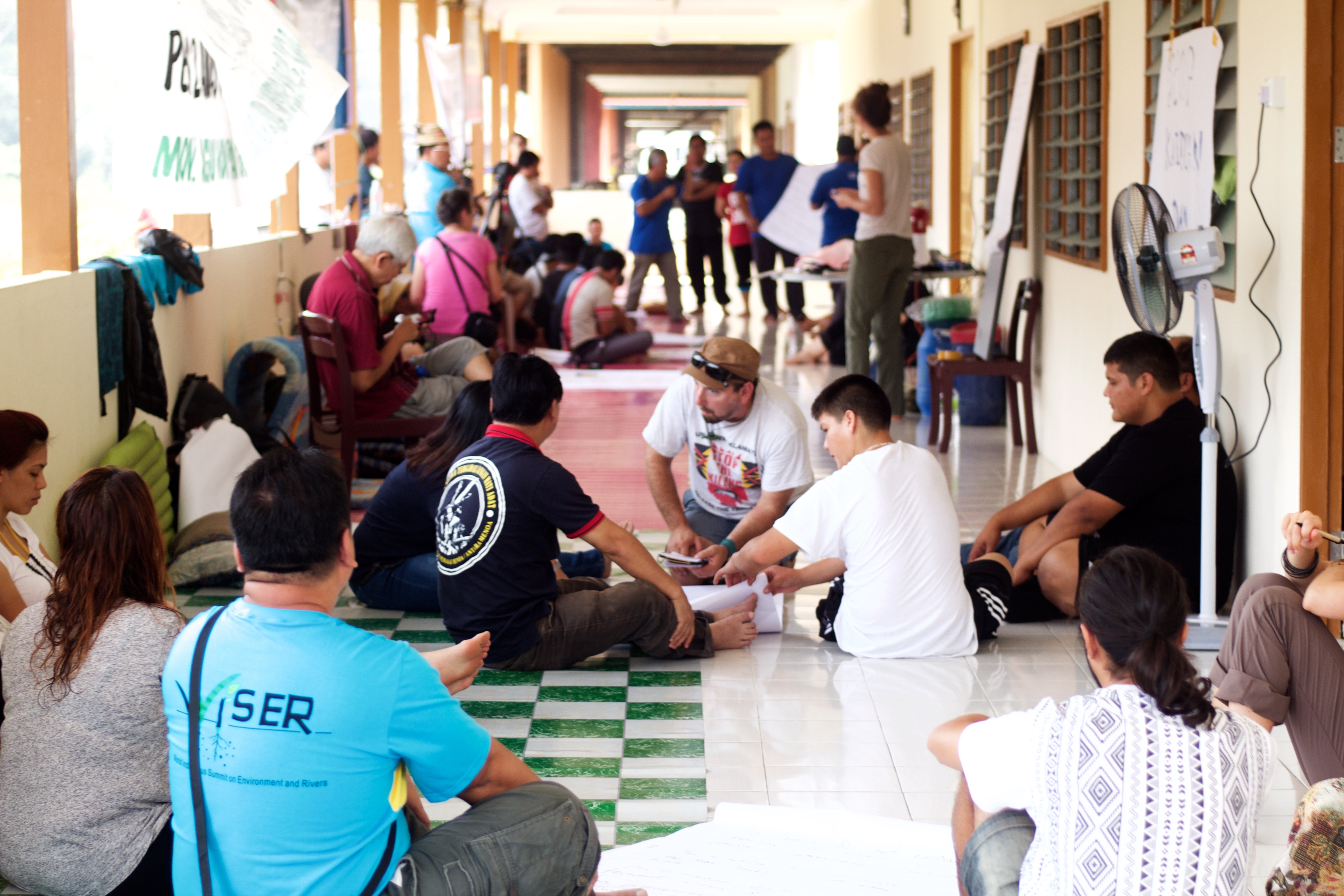 Participants sharing their experiences through workshops at the village of Tanjung Tepalit / Photo Credit: The Borneo Project